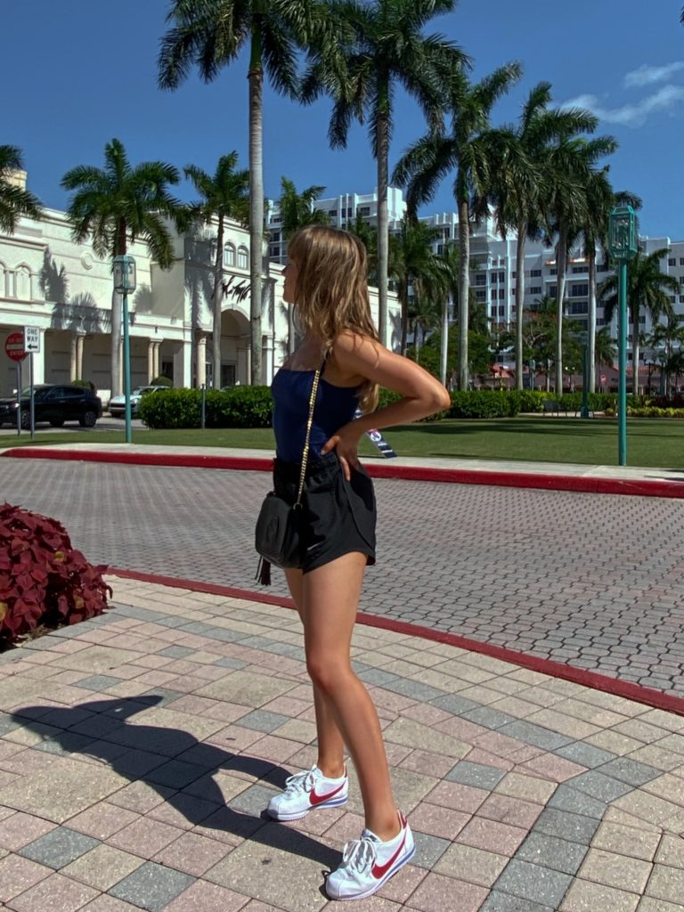 Nylon Running Shorts For the First Day on Vacation