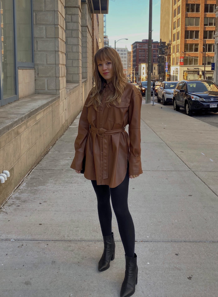 THE CHIC LEATHER PIECE TO LAYER THIS WINTER